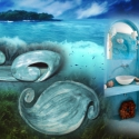 Kéthullámos tengerkék tál, Otthon, lakberendezés, Kerámia, Hullámok, sós tenger,türkizkékek amerre a szem ellát, napsütés, lágy szellő,...mi kell még a tenger..., Meska