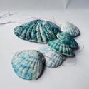tengerkék kagylós szélcsengő, Dekoráció, Otthon, lakberendezés, Kerti dísz, Kerámia, Tengerkék kagylók ugyan nincsenek a természetben, de ha valaki annyira szereti a türkizeket, mint é..., Meska