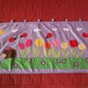 Halványlila katicás-tulipántos falvédő, Baba-mama-gyerek, Otthon, lakberendezés, Gyerekszoba, Falvédő, takaró, Varrás, Patchwork, foltvarrás,  PÁRNÁCSKÁIM A PÁRNACSATA NEVEZETŰ MESKA BOLTBAN  KAPHATÓAK!!!     A képen látható falvédő már gazd..., Meska