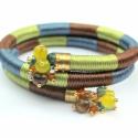 Twister szatén-selyem fonal karkötő őszi színekben!, Ékszer, óra, Karkötő, , Meska