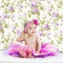 Lila rózsás fotóháttér babafotózáshoz,  80x80cm, Baba-mama-gyerek, Dekoráció, Fotó, grafika, rajz, illusztráció, Rózsa mintás PVC fotóháttér 80x80cm-es méretben. (más méretben is kérheted) Bármikor előveheted ami..., Meska