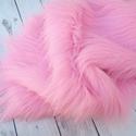 Luxus műszőrme  babafotózáshoz - extra hosszúszálú, rózsaszín, Baba-mama-gyerek, Baba-mama kellék, Horgolás, Varrás, Hosszúszőrű luxus minőségű műszőrme babafotózáshoz.  Színe világos rózsaszín, szálhosszúsága kb. 9c..., Meska