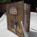 Antik hatású receptes könyv, Konyhafelszerelés, Receptfüzet, , Meska