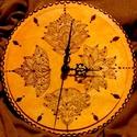 Falióra, indiai virág motívummal, Ékszer, óra, Képzőművészet , Mindenmás, Karóra, óra, , Meska