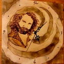 Jim Morrison falióra, Otthon, lakberendezés, Képzőművészet , Falióra, Grafika, , Meska