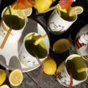 Vidám kertipartik kelléke:) limonádés készlet, Konyhafelszerelés, Esküvő, Bögre, csésze, Nászajándék, , Meska