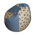 Baglyos-kék csepp alakú babzsi, Bútor, Otthon, lakberendezés, Mindenmás, Babzsák, Varrás, Csepp alakú, hat cikkből álló fotel, extra minőségű, strapabíró lakástextilből,  felnőtteknek és gy..., Meska
