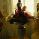 Rózsaszínben látom a világot- Strucc tollas , Dekoráció, Otthon, lakberendezés, Dísz, Ünnepi dekoráció, Virágkötés, Papírművészet, Szerelem -szeretet  ünnepre vagy bármilyen alkalomra ajánlom aki szereti a különlegességet. Sizal s..., Meska