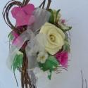 Szerelem-szeretet, Dekoráció, Otthon, lakberendezés, Dísz, Kaspó, virágtartó, váza, korsó, cserép, Virágkötés, Papírművészet,  Bármilyen szeretet ünnepre  ajánlom. 15cm átmérőjű ,mag:18cm)cserepet lefestettem (pasztell sárga)..., Meska