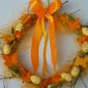 Húsvéti,tojásos ajtódísz,kopogtató,koszorú, Dekoráció, Otthon, lakberendezés, Dísz, Húsvéti apróságok, Virágkötés, Fonás (csuhé, gyékény, stb.), A gyönyörű tavaszi napsütés fénye és melege, a kibújó tavaszi virágok,-éled a természet- adta az öt..., Meska