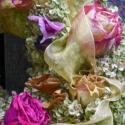 Újdonság!! Antik Rózsa-vintage koszorú, Dekoráció, Otthon, lakberendezés, Dísz, Virágkötés, Nem tudok eltelni a szép illatos rózsákkal,összepróbálom,összeválogatom különbözö alapokkal,most ru..., Meska