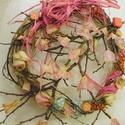 Mandulavirágzás- tavaszi ajtódísz,koszorú, Dekoráció, Otthon, lakberendezés, Dísz, Húsvéti apróságok, Fonás (csuhé, gyékény, stb.), Virágkötés,     Tavasztól nincs szebb évszak. Tavaszi virágok, a fák kezdik bontani virágaikat Vessző alapra ke..., Meska