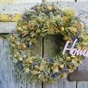 Rózsás Romantika-Vintage, Dekoráció, Otthon, lakberendezés, Dísz, Virágkötés, Nagyon szeretem a száritott ,illatos rózsákat-vintage jegyében készült a diszem. Szalma alapot bevo..., Meska
