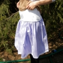Kismama szoknya: pörgős, pöttyös, csipkés aljú, Baba-mama-gyerek, Ruha, divat, cipő, Kismamaruha, Baba-mama kellék, Varrás, Legyél csinos kismama! :) A kezdetektől, mikor már szorít a régi méret :) egészen az utolsó hónapig..., Meska