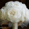 Nosztalgia rózsacsokor - megrendelhető, Esküvő, Dekoráció, Esküvői csokor, Ünnepi dekoráció, Mindenmás, Virágkötés, Ez a csokor már elkelt, ám újrarendelhető akár más színben is. Minden kis szirmát kézzel vágtam ki,..., Meska