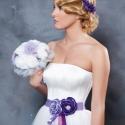 Szaténöv rózsákkal, Ruha, divat, cipő, Esküvő, Öv, Varrás, Lila rózsák díszítik ezt az övet, melyet esküvőre, szalagavatóra, ballagásra, fotózásra stb. ajánlo..., Meska