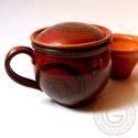 Rusztikus szűrős, Konyhafelszerelés, Bögre, csésze, Kerámia, Hideg időben gyakrabban jut eszünkbe leülni egy forró teához, különösen, ha gyűjtöttünk magunknak a..., Meska