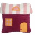 Gyerek párna - Házikó (rózsa-fehér csíkos/pink), Otthon, lakberendezés, Baba-mama-gyerek, Lakástextil, Párna, , Meska