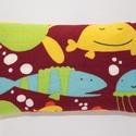 Zsebkendőtartó halacskás, Baba-mama-gyerek, Mindenmás, Baba-mama kellék, Varrás, Apró segítség orrfújáshoz :)  Kb. 6-7 db átlagos méretű papírzsepi tárolásához készítettem belül fe..., Meska