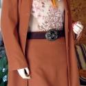 """Arany színű nőiesség , Ruha, divat, cipő, Női ruha, Kosztüm, Kabát, Varrás, Legyen tiéd ez az  """"arany színű nőiesség """" 3 részes kosztüm,amit kiváló minőségű velúrbőr szövetből..., Meska"""