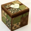 Pénzátadó doboz őszi esküvőre, Dobozalbum, meglepetés doboz, Esküvő, Képeslap, album, füzet, Meghívó, ültetőkártya, köszönőajándék, Ajándékkísérő, , Meska