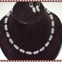 Hegyikristály   Gránát szett ! Ajándék fülbevalóval, Ékszer, óra, Ékszerszett, Ékszerkészítés, Gyöngyfűzés,   Gyönyörű fazettált hegyikristály rondellból (7,5) mm és gránát kőből (6 mm) lapos köztesekből kés..., Meska