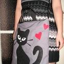 Egyedi cicás táska, Táska, Válltáska, oldaltáska, Mindennapi használatra (is) ajánlott cicás táska Mérete 36x40 cm Vatelinnel bélelt,jó tartása van Eg..., Meska