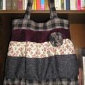 Egyedi romantic/shabby táska, Táska, Válltáska, oldaltáska, Egyedi női táska romantikus stílusban Magassága 40 cm,szélessége 34-60 cm Pántok hossza 68 cm,bősége..., Meska