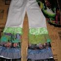 """Egyedi hippi farmernadrág,fesztiválnadrág  S -es, Ruha, divat, cipő, Új,eredeti Denim farmert """"hippizáltam"""" Hossza 96 cm,derékbőség 78 cm Csípőbőség 100 cm,ülepe  20+30 ..., Meska"""