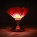"""""""Lávafolyam"""" asztali üveglámpa, Otthon, lakberendezés, Lámpa, Asztali lámpa, Hangulatlámpa, Üvegművészet, Egészen különlegessé, egyedi hangulatúvá teheti lakását ezzel az izzó, meleg fényű rogyasztott üveg..., Meska"""