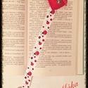 Katicás könyvjelző, Baba-mama-gyerek, Mindenmás, Naptár, képeslap, album, Könyvjelző, Hímzés, Varrás, Katicás könyvjelző, hossza: 35cm, a szalag szélessége 2.5 cm, a felső részen lévő szív szilikonizál..., Meska
