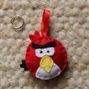 Angry Birds figura (kulcstartó), Mindenmás, Baba-mama-gyerek, Táska, Kulcstartó, Mindenmás, Varrás, Angry Birds figurák kulcstartó formában  Méretük: 4,5 cm Akasztó mérete: kb. 4 cm Vattával töltve  ..., Meska