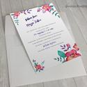 Esküvői meghívó vízfesték hatású grafikával 02 / nyomtatható / rendelhető, Esküvő, Képzőművészet, Meghívó, ültetőkártya, köszönőajándék, Grafika, Fotó, grafika, rajz, illusztráció, Esküvői meghívó vízfesték hatású grafikával és egyedi betűkészlettel.  A szöveges részt a termék el..., Meska