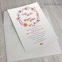 Esküvői meghívó vízfesték hatású grafikával 03 / nyomtatható / rendelhető, Képzőművészet, Esküvő, Grafika, Meghívó, ültetőkártya, köszönőajándék, Fotó, grafika, rajz, illusztráció, Esküvői meghívó vízfesték hatású grafikával és egyedi betűkészlettel.  A szöveges részt a termék el..., Meska