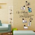 Az otthon, falmatrica fényképekkel, Dekoráció, Otthon, lakberendezés, Falmatrica, Falikép, Fotó, grafika, rajz, illusztráció, Minden kép egy történetet mesél a családodról, otthonodról. Ezt a falmatricát színes képekkel együt..., Meska