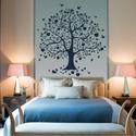 Éva fája falmatrica, Dekoráció, Otthon, lakberendezés, Falmatrica, Falikép, Fotó, grafika, rajz, illusztráció, Ez az almafa kiváló választás a nappali dekorálására, valamint az előszobában és a hálószobában is ..., Meska