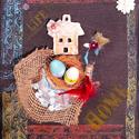 Húsvéti  falidísz, Otthon, lakberendezés, Falikép, Festészet, locsoló váró falikép esetleg ajándék húsvétra 22 x24 cm, Meska