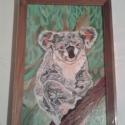 Koala maci, Baba-mama-gyerek, Képzőművészet , Gyerekszoba, Festmény, , Meska