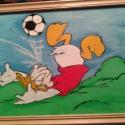 Donald focizni tanul, Baba-mama-gyerek, Otthon, lakberendezés, Gyerekszoba, Falikép, , Meska