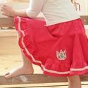 PÖRGŐS kord szoknya, 74-164-es, közép rózsaszín, lány, pamut csipke díszítéssel , Ruha, divat, cipő, Gyerekruha, Gyerek (4-10 év), Kamasz (10-14 év), Varrás, Hímzés, A közép rózsaszín, pörgős, lány kordbársony szoknya anyaga bőrbarát: 95 % pamut, 5 % elasztán (ez u..., Meska