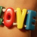 LOVE feliratos kerámia karkötő, Ékszer, óra, Karkötő, , Meska