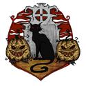 Halloween - Fekete Macska, Képzőművészet , Illusztráció, , Meska