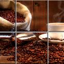 Kávé reggelre Csempe mozaikkép, Dekoráció, Képzőművészet , Konyhafelszerelés, Kép, Kerámia, Csempe kép. 6 db 10x10 cm minőségi csempe lapok felületébe égetem 200 C°-on a mozaikszerűen feloszt..., Meska