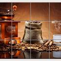 Kávé reggelre II. Csempe mozaikkép, Dekoráció, Képzőművészet , Konyhafelszerelés, Kép, Kerámia, Csempe kép. 12 db 10x10 cm minőségi csempe lapok felületébe égetem 200 C°-on a mozaikszerűen felosz..., Meska