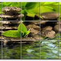 Zen Csempe mozaikkép, Dekoráció, Képzőművészet , Konyhafelszerelés, Kép, Kerámia, Csempe kép. 15db 10x10 cm minőségi csempe lapok felületébe égetem 200 C°-on a mozaikszerűen feloszt..., Meska