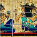 Egyiptom Csempe mozaikkép, Dekoráció, Képzőművészet , Konyhafelszerelés, Kép, Kerámia, Csempe kép. 15 db 108x108 mm minőségi csempe lapok felületébe égetem 200 C°-on a mozaikszerűen felo..., Meska