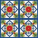 Talavera Csempe, Dekoráció, Konyhafelszerelés, Kerámia, Talavera a különböző mediterrán, mór és közép-amerikai indián stílusokat ötvöz. A csempék 108x108 m..., Meska