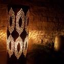 Dekoratív  kerámia éjjeli lámpa ,hangulat fény, Otthon, lakberendezés, Lámpa, Asztali lámpa, Hangulatlámpa, Kerámia, ,LÁMPA AMI HANGULATOT TEREMT'27 cm magas 10 cm átmérőjű kézi korongozással és áttöréssel készült eg..., Meska