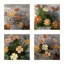 Sárga  Árnyalatú Mázas Kerámia Virágok, Otthon, lakberendezés, Kerti dísz, Kaspó, virágtartó, váza, korsó, cserép, Kerámia, Szedj egy csokrot a virágos kertemből! És egész évben szépítheti  otthonod! Ha a vázában meguntad  ..., Meska