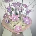 Szépség,Elegancia Kerámia Virágok Vázával, Otthon, lakberendezés, Kaspó, virágtartó, váza, korsó, cserép, Kerámia, Virágkötés, Kézzel készített egyedi mázas kerámia virágok szintén egyedi korongozott vázában. Ez a  kézműves vi..., Meska